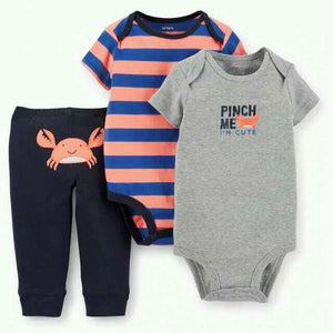 Baby Clothing Sets Bodysuits 3pcs toddler romper Cotton pajamas-GKandaa.net