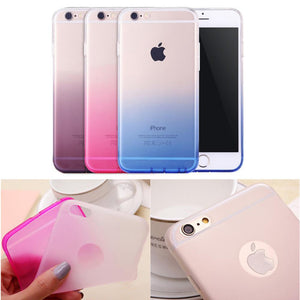 Case Cover for iPhone 6 6s Transparent Color TPU Shell 4.7ich-GKandaa.net