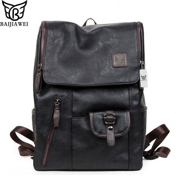 Backpacks Bags Leather Wester Zip Casual Day Schoolanzellina.myshopify.com