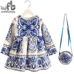2-8years Dress+Bag/set New Cute Kids Baby Girl - GKandAa - 1