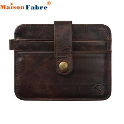 Brand New Slim Credit Card Holder Mini Wallet mens Leather ID Case Purse Bag Pouch carteira masculina Gift 1pcs - GKandAa - 1