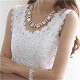 Fashion Women Ladies Lace Floral Strap Tank Vest Tops Blouse Shirt Summer Blusa - GKandAa - 1