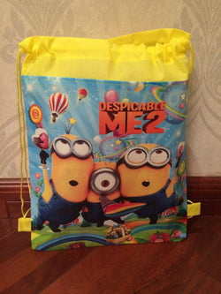 2015 minion backpack gmy school non-woven string shoe bag for boys and girls kids birthday gifts all match - GKandAa - 1