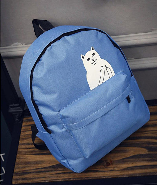 Backpacks Casual Cat Soft Handle Zipper-GKandaa.net