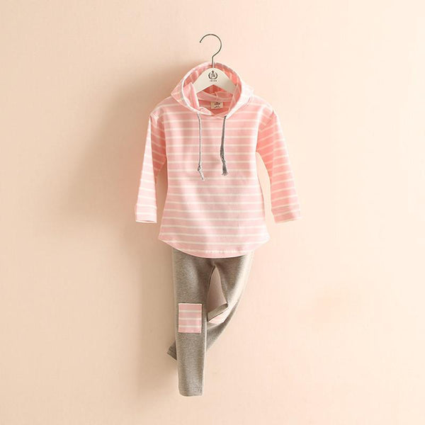 Baby Sweatshirts Clothing Sets Classic Striped Spring Retail 2Pcs-GKandaa.net