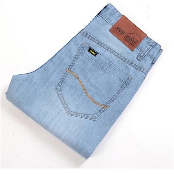 Men's Jeans Fit fashion Slim 100% high quality cotton blue size 28-40-GKandaa.net