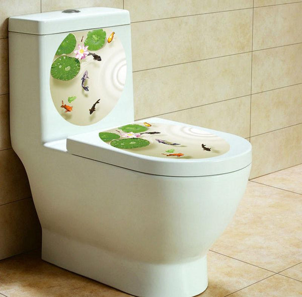 Flower Wall Stickers 32*39cm WC decor bathroom-GKandaa.net