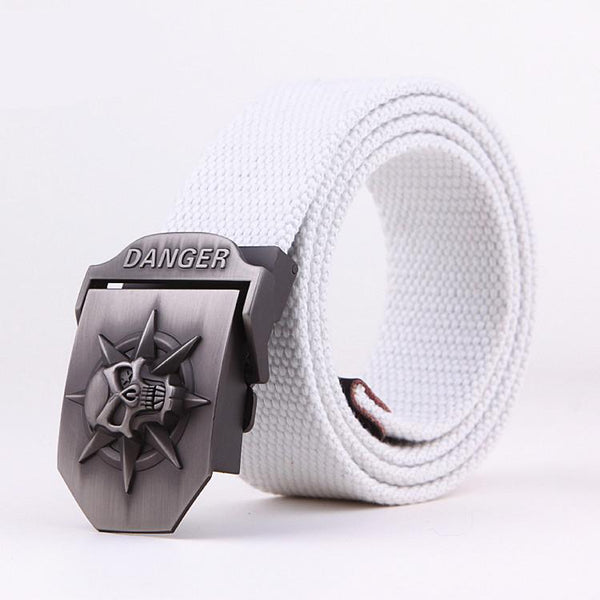 Men's Belts Military Canvas Hip Wide Strap Strong-GKandaa.net