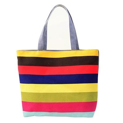 Beach bags Canvas Color Printing lady Shoulder Casual #F901-GKandaa.net