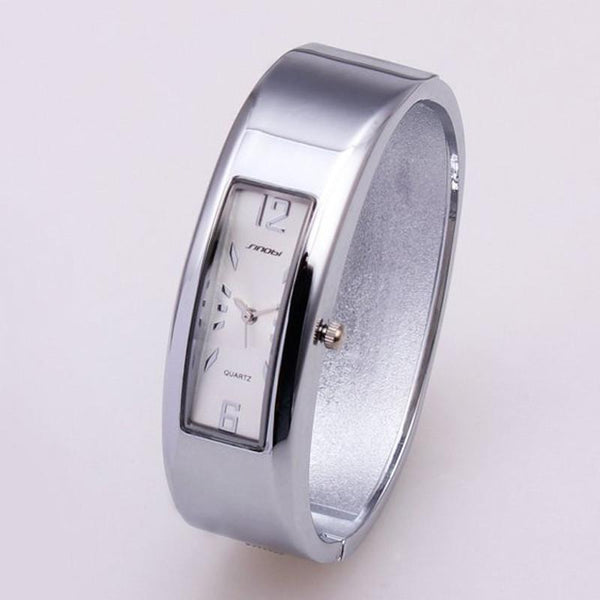 Women Wrist Watch Cuff Trendy Bracelet Alloy Bracelet-GKandaa.net