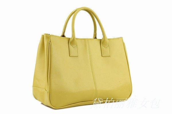 Shoulder Bags Special Selling PU leather Classic color tote-GKandaa.net