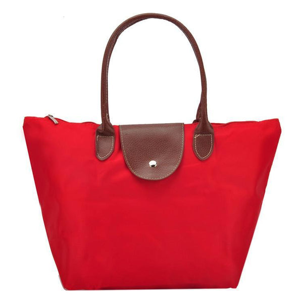 Shoulder Bags ZIWI Folding Leather Dumplings Tote SY0427G Handbags-GKandaa.net