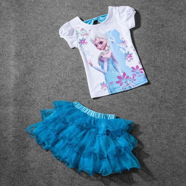 Clothing Sets (T-Shirt + short-) fashion lace 100%-GKandaa.net