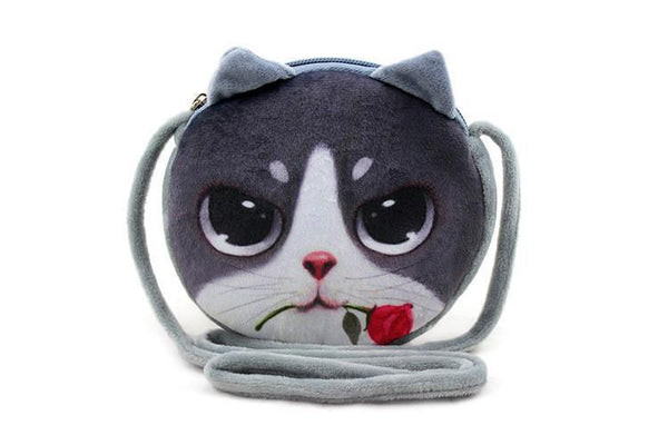 Backpack Bags 3D Cat Cotton Cell Phone Pocket-GKandaa.net
