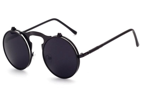 Women's Sunglasses VINTAGE steam Metal Retro CIRCLE-GKandaa.net