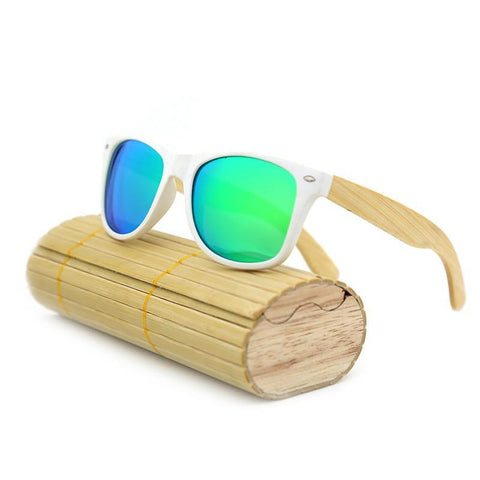 New fashion Products Men Women Glass Bamboo Sunglasses au Retro Vintage Wood Lens Wooden Frame Handmade - GKandAa - 10