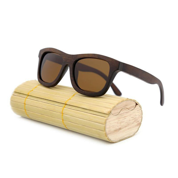 Women's Sunglasses Retro vintage Wood Frame-GKandaa.net