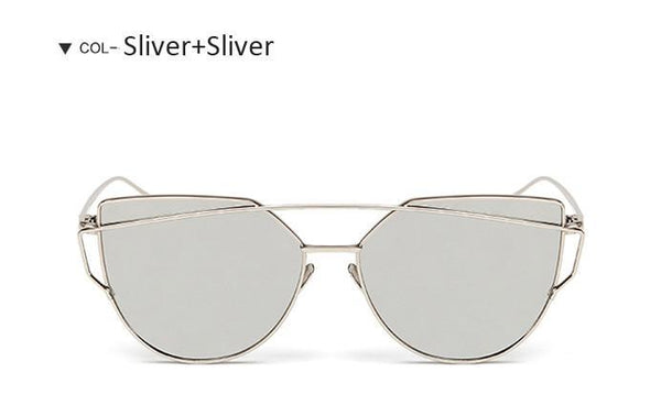 Women's Sunglasses Cat Eye Mirror UV400-GKandaa.net