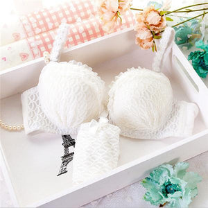 Bra Brief Set lingerie Ruffle-GKandaa.net