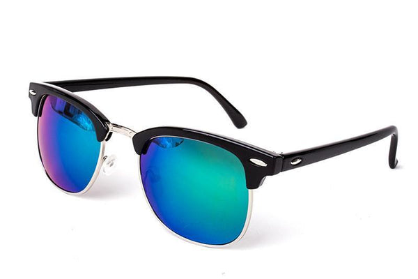 Women's Sunglasses Half Metal Mirror UV400 Classic-GKandaa.net