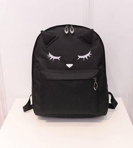 Backpacks Cute Embroidery Cat College Casual School-GKandaa.net
