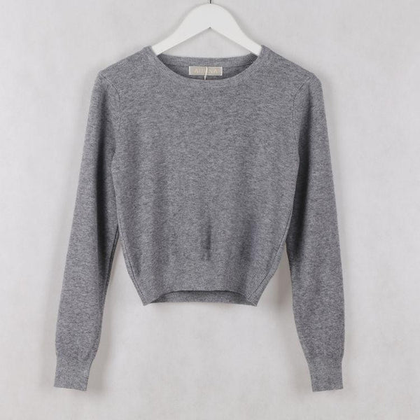 Women's Pullovers version Slim Short sweater-GKandaa.net
