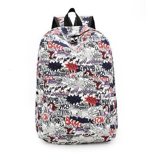 Backpacks Softback Canvas Floral-GKandaa.net
