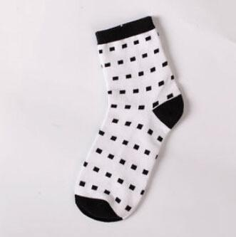 Men's Socks winter White Hit Color cotton-GKandaa.net