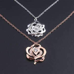 Rose Pendant Necklace  for Women Gift-GKandaa.net