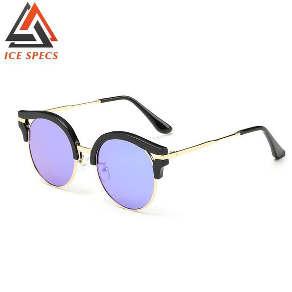 Women's Sunglasses round UV400 glass-GKandaa.net