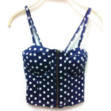 Summer Women Girls Sweet Floral Bustier Padded Zipper Crop Tank Tops Sexy Blouses X16 - GKandAa - 5