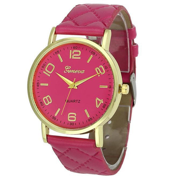 Women Wrist Watch Pu Leather B-GKandaa.net