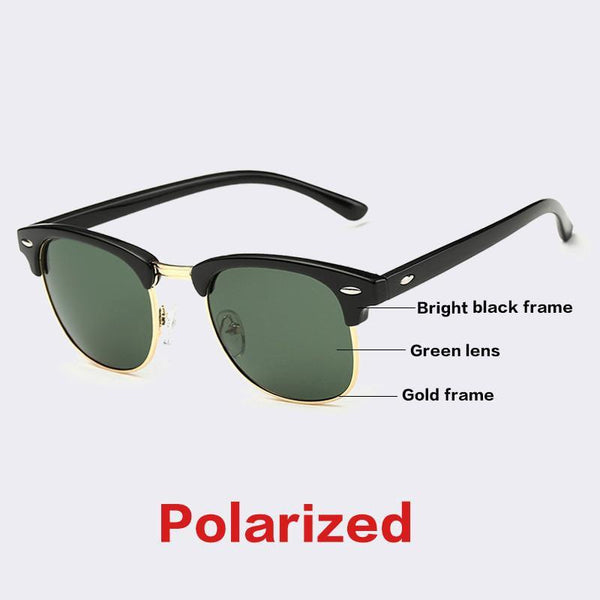 Women's Sunglasses CLASSIC Half Metal G15 Mirror PS1580-GKandaa.net