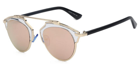Totalglasses Gold Metal Sunglasses Women Original Brands Designer Sunglasses Fashion Summer Style Female Sunglases Oculos - GKandAa - 7
