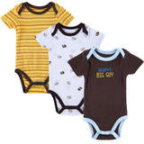 Kids, baby, 3 Pieces/lot Fantasia Baby Bodysuit Infant Jumpsuit Overall Short Sleeve Body Suit Baby Clothing Set Summer Cotton - GKandAa - 5