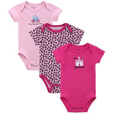 Baby Bodysuits 3 Pieces/ Jump Overall Short Sleeve Set Summer-GKandaa.net