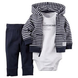 Kids, baby, Baby girl ,kids baby boy clothes coat+bodysuit+pant 3 pcs infant boy clothing set - GKandAa - 6