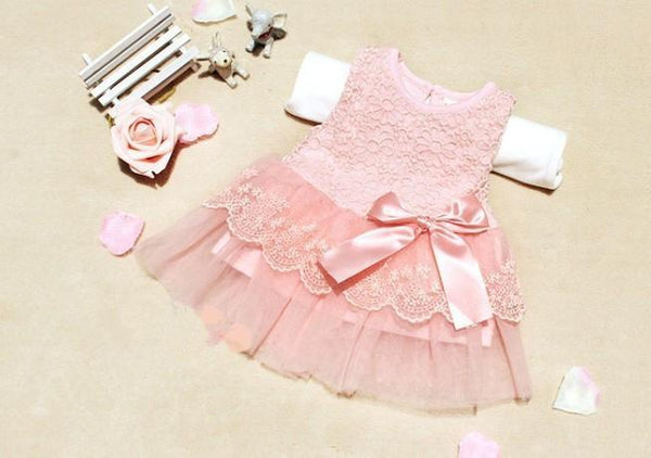 Baby Dress sleeveless lace Crochet Party-GKandaa.net
