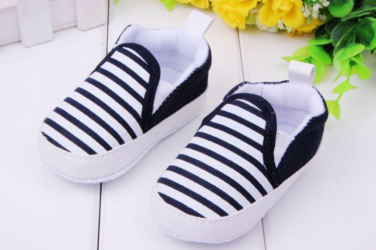 Baby Shoes fashion striped canvas-GKandaa.net