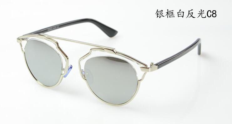 Women's Sunglasses Metal Wrap Cat Eye vintage-GKandaa.net
