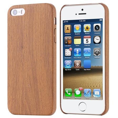 Case Cover for iPhone Retro vintage Wood Leather PU 5 /5s SE Slim-GKandaa.net
