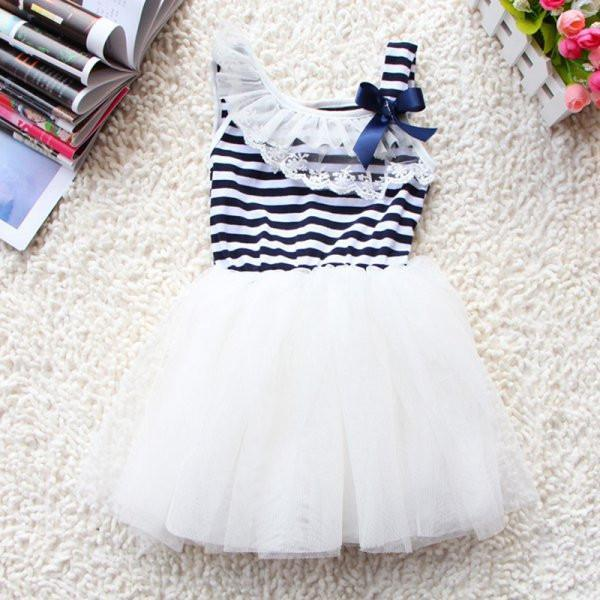 Baby Dress Summer Ball Gown lace 3 Colors Age 0-2Y-GKandaa.net