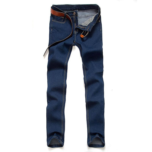 Men's Jeans Leisure Pencil pants Solid Straight Casual-GKandaa.net