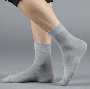 Men's Socks 1 pair high quality cotton pure color-GKandaa.net