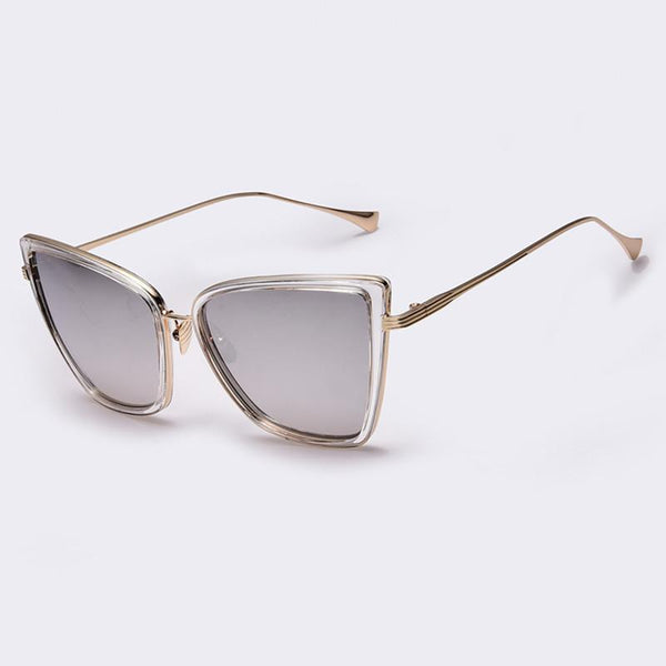Women's Sunglasses n Cat Mirror Metal Cat Eye-GKandaa.net