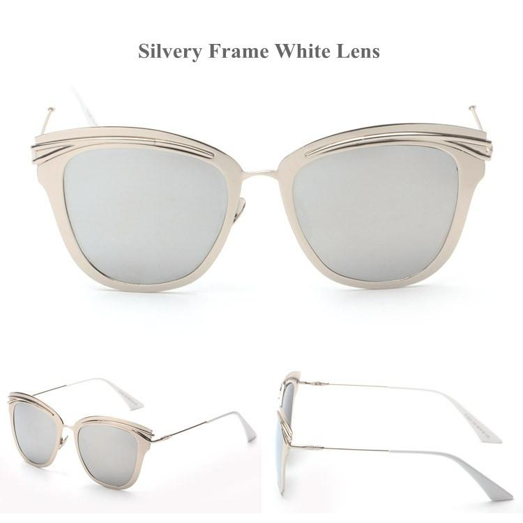 Women's Sunglasses Rose Gold Luxury Alloy Cat Eye Cosy Shades H817-GKandaa.net
