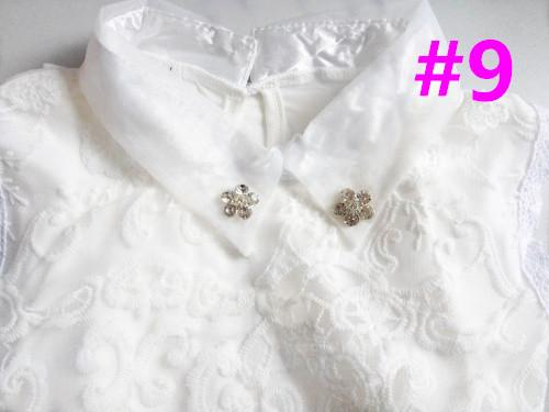 Women's Blouses Embroidery Lace collar beaded-GKandaa.net