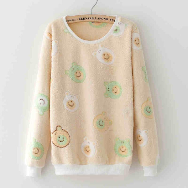 Women's Pullovers Teddy Bear Lied Wool Cashmere sweater-GKandaa.net