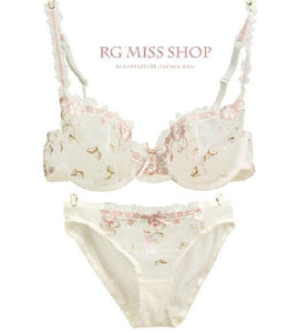 Bra Brief Sets D/C Cup Embroidery Lace Push Up Secret BS192-GKandaa.net