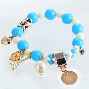 Fashion Women Bracelet Cute Pastel Colours Pearl Beads-GKandaa.net